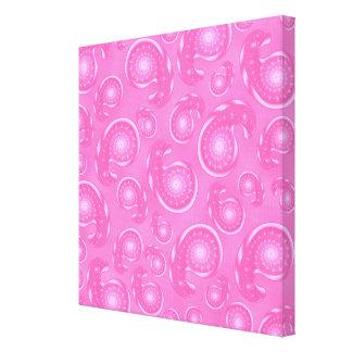 Modelo rosado de Paisley Impresión En Lona Estirada