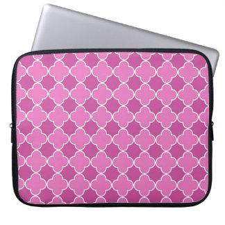 Modelo rosado de Quatrefoil del ordenador portátil Funda Computadora