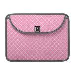 Modelo rosado de Quatrefoil Funda Para Macbook Pro