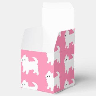 Modelo rosado de Westie - perros del oeste de Caja Para Regalos