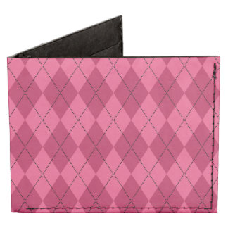 Modelo rosado del argyle billeteras tyvek®