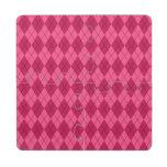 Modelo rosado del argyle posavasos de puzzle