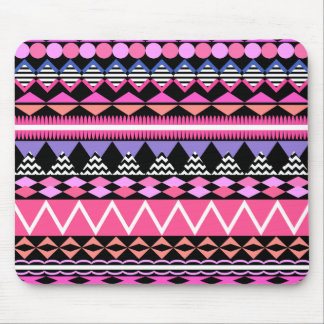 Modelo rosado del Azteca del fiesta Mousepads