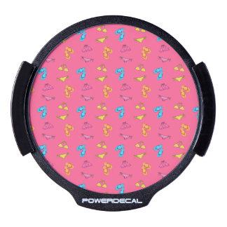 Modelo rosado del bikini y de las sandalias sticker LED para ventana