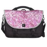 Modelo rosado del brillo bolsas de portatil