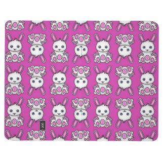 Modelo rosado del conejito de Kawaii Cuadernos Grapados