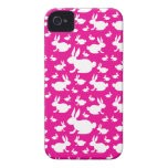 Modelo rosado del conejito Case-Mate iPhone 4 fundas