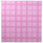 Modelo rosado del control servilletas de papel