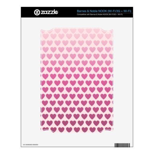 Modelo rosado del corazón de Ombre NOOK Calcomanía