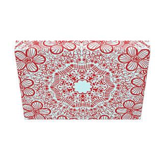 Modelo rosado del cordón impresiones en lienzo estiradas
