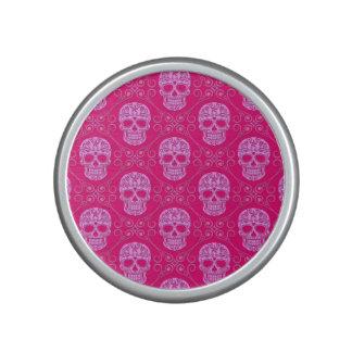Modelo rosado del cráneo del azúcar altavoz bluetooth