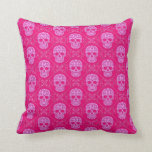 Modelo rosado del cráneo del azúcar cojin