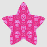 Modelo rosado del cráneo del azúcar colcomanias forma de estrellas