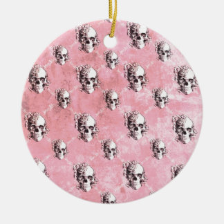 Modelo rosado del cráneo del lunar ornamentos de navidad