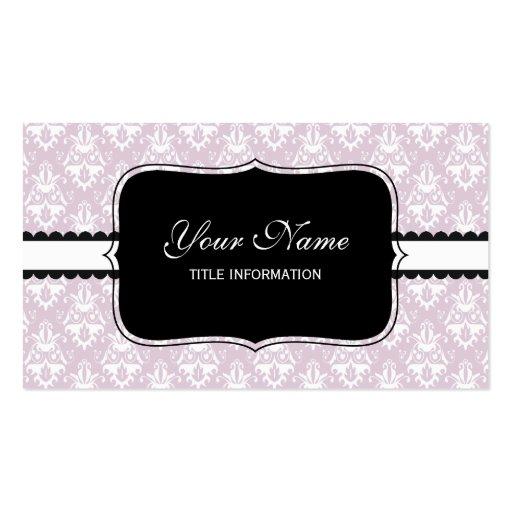 Modelo rosado del damasco de la lavanda tarjetas de visita