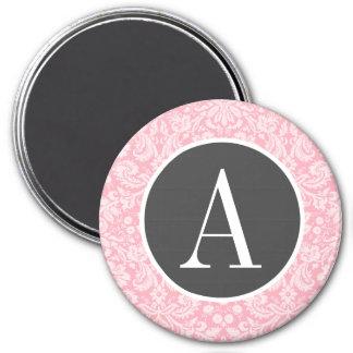 Modelo rosado del damasco del chicle imán de nevera