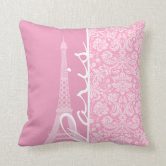 Modelo rosado del damasco del clavel almohada