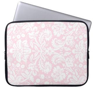 Modelo rosado del damasco del ordenador portátil funda portátil