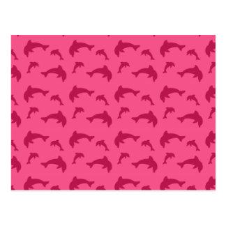 Modelo rosado del delfín postal