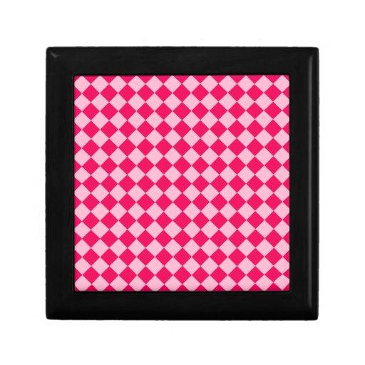 Modelo rosado del diamante de la combinación caja de regalo
