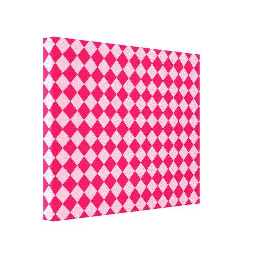 Modelo rosado del diamante de la combinación lienzo envuelto para galerias