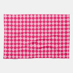 Modelo rosado del diamante de la combinación toalla