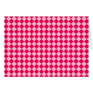 Modelo rosado del diamante de la combinación tarjeta de felicitación
