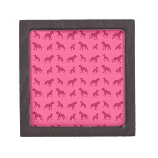 Modelo rosado del dogo caja de regalo de calidad