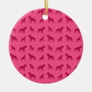 Modelo rosado del dogo ornamentos para reyes magos