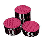 Modelo rosado del dogo fichas de póquer