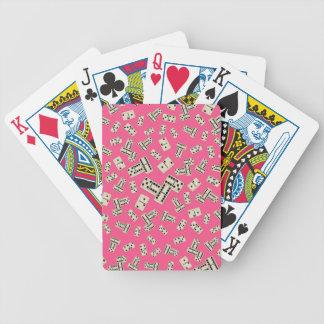 Modelo rosado del dominó de la diversión cartas de juego
