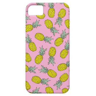 Modelo rosado del ejemplo de la fruta de la piña iPhone 5 fundas