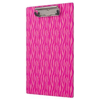 Modelo rosado del estampado de zebra