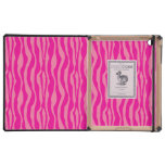 Modelo rosado del estampado de zebra iPad carcasas