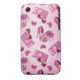Modelo rosado del estilete iPhone 3 carcasas