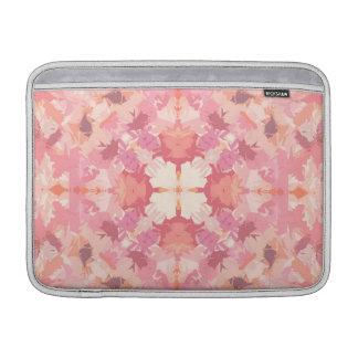 Modelo rosado del extracto de la acuarela del funda para macbook air