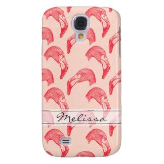 Modelo rosado del flamenco del vintage samsung galaxy s4 cover