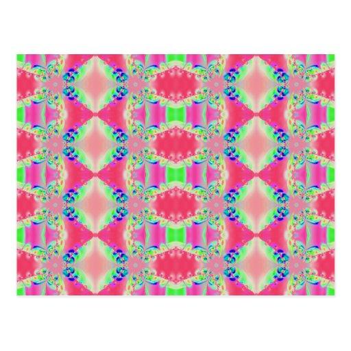 modelo rosado del fractal postales