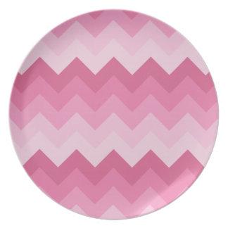 Modelo rosado del galón plato de comida
