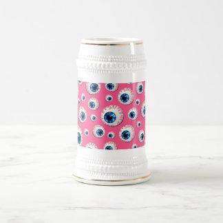 Modelo rosado del globo del ojo jarra de cerveza