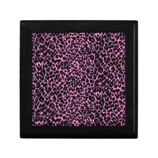 Modelo rosado del guepardo cajas de recuerdo