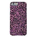 Modelo rosado del guepardo funda para iPhone 6 barely there
