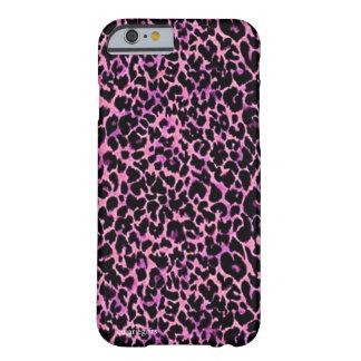 Modelo rosado del guepardo funda de iPhone 6 barely there