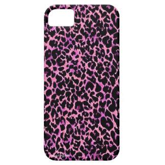 Modelo rosado del guepardo iPhone 5 Case-Mate protectores