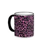 Modelo rosado del guepardo taza de café
