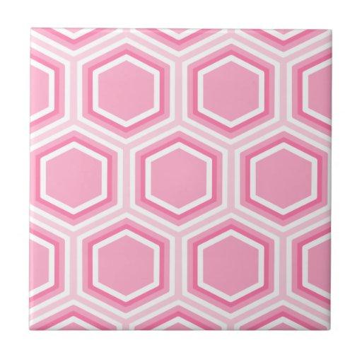 Modelo rosado del hexágono azulejo cuadrado pequeño