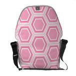 Modelo rosado del hexágono bolsa de mensajería