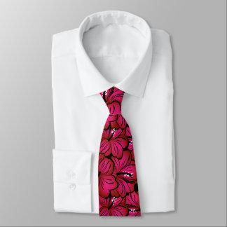 Modelo rosado del hibisco corbata