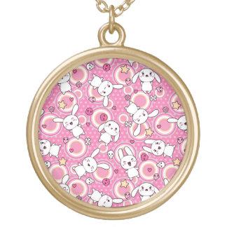 modelo rosado del kawaii colgante redondo