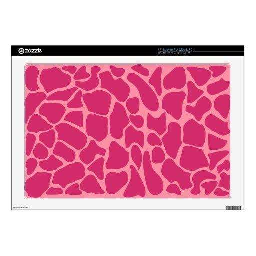 Modelo rosado del leopardo 43,2cm portátil calcomanías